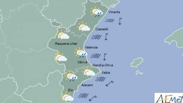 La setmana comença amb temperatures en descens i precipitacions disperses ocasionals a la Comunitat Valenciana