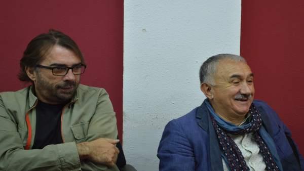 Camil Ros y Josep Maria Álvarez (UGT)
