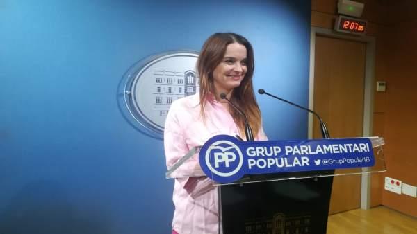 La portavoz adjunta del GPP, Margalida Prohens