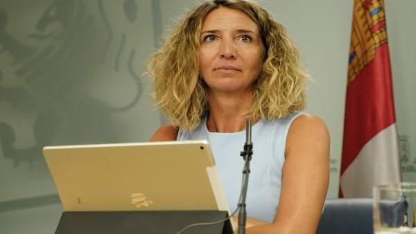 Alicia García comparece tras la reunión del Consejo de Gobierno, 30-8-18