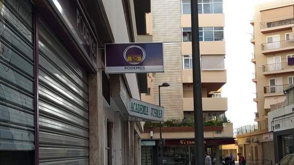 Pintadas en la sede de Podemos en Ibiza