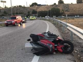 Accidente de moto.