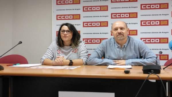 Rueda de prensa con Sonia García y Manuel Pina.