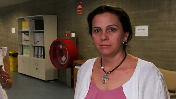 Carmen Vicente en declaraciones a los medios este lunes en Mérida