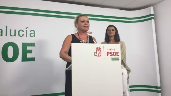 La alcaldesa de San Juan del Puerto, Rocío Cárdenas.