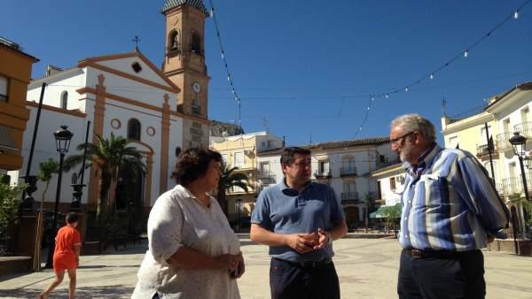 Obras pfea cuevas san marcos diputación málaga ramón del cid alcaldesa