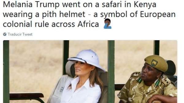 Melania Trump, criticada en Twitter