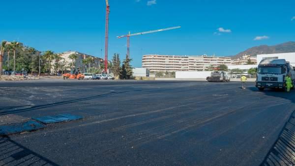 Acondicionamiento nuevo espacio aparcamiento ayto estepona avenida juan carlos I