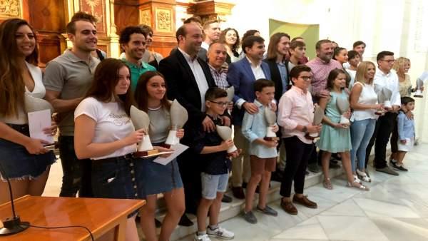 Entrega de premios del II Circuito de Travesías a Nado por los pantanos de Jaén.