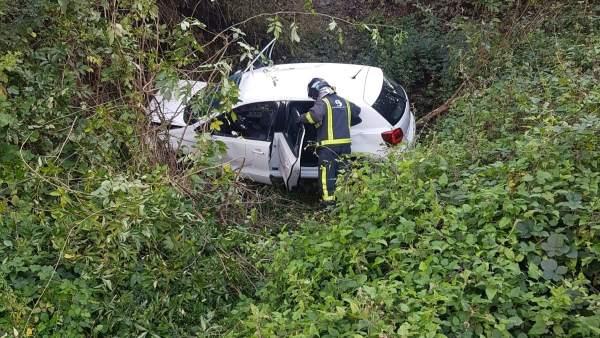 Accidente de tráfico en Campomanes