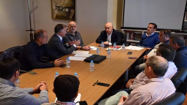 Reunión Junta y taxistas