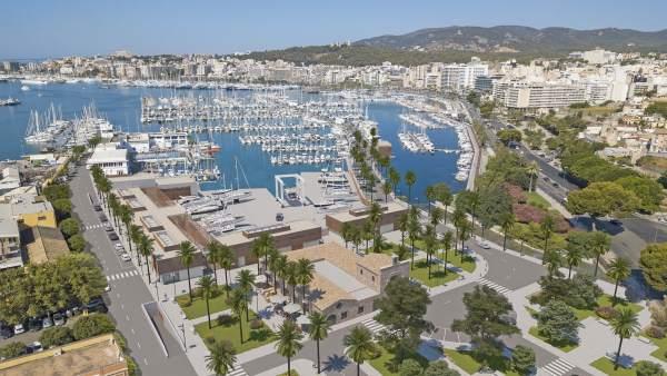 Recreación del proyecto del nuevo Real Club Náutico de Palma