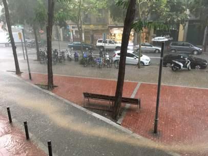 Lluvias en Barcelona este martes