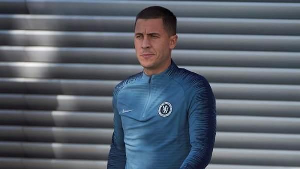 Eden Hazard, en un entrenamiento con el Chelsea.
