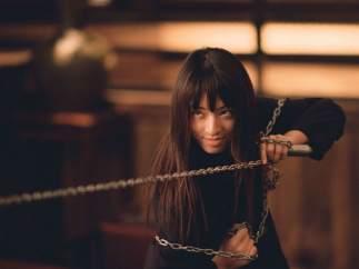 Chiaki Kuriyama le golpeó por accidente a Tarantino