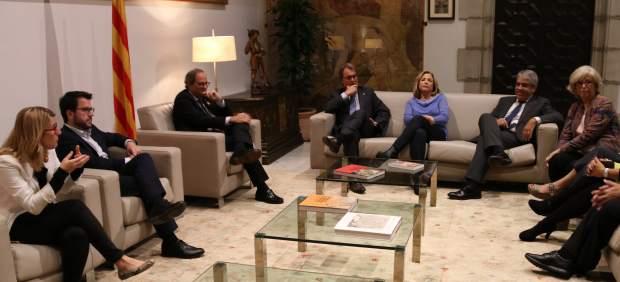 Reunión del Govern catalán este martes con Artur Mas, Joana Ortega, Francesc Homs e Irene Rigau antes de declarar por el 9-N ante el Tribunal de Cuentas.