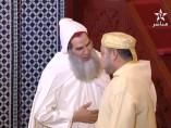 El jeque Fizazi saludando al rey Mohamed VI