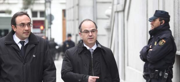 Josep Rull y Jordi Turull llegan al Supremo por la vista del procés.
