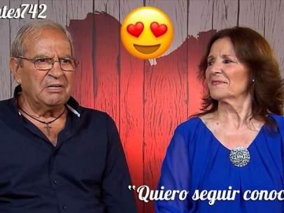 Antonio y Juanita en 'First Dates'.