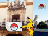 La bandera pokeball