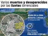Mapa de las inundaciones de Sant llorenç