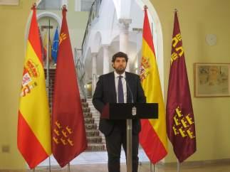 Fernando López Miras Lee La Declaración Institucional