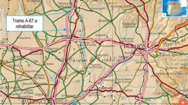 Mapa de la A-67