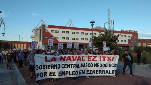 Manifestación de La Naval