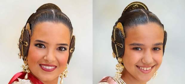 La joven Marina Civera y la niña Sara Larrazábal, falleras mayores de València 2019