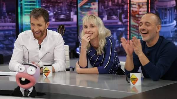 Ingrid García-Jonsson y Javier Gutiérrez, en 'El hormiguero'.