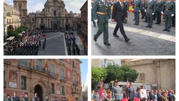 Imágenes de los actos de la conmemoración de la Virgen del Pilar