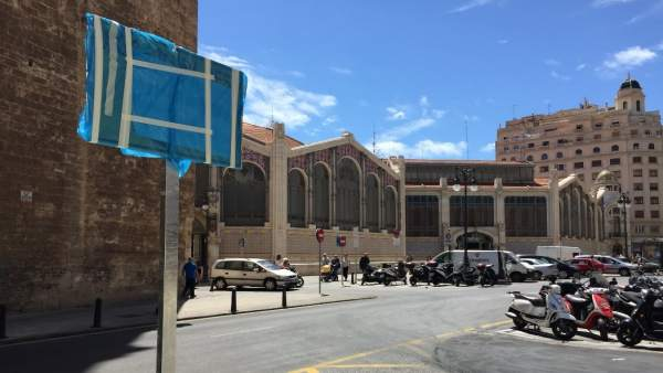 Obras en la plaza de Brujas de  València