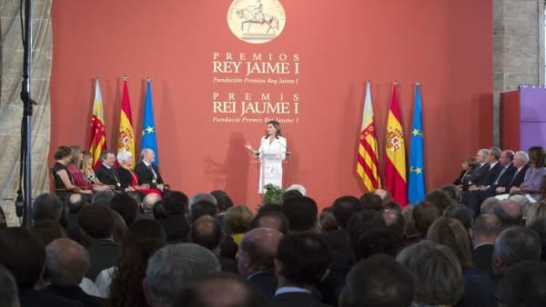 Imagen de archivo de la entrega de los Premios Rey Jaime I