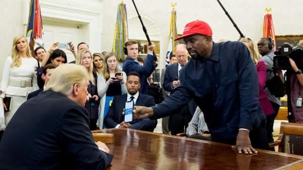 Donald Trump y Kanye West