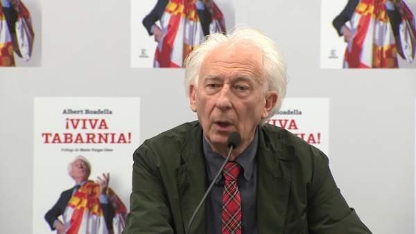 Albert Boadella Durante La Presentación De Su Libro '¡Viva Tabarnia!'