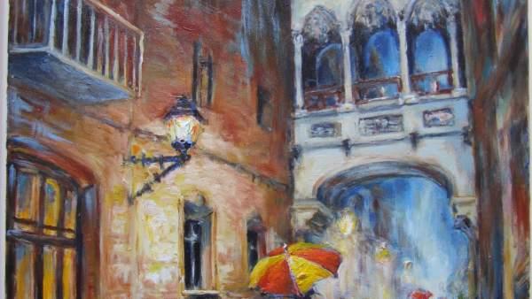 Callejon en la lluvia de Thomas Khlau