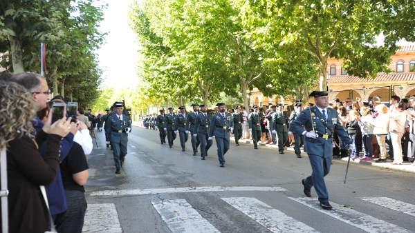 Celebración de la patrona de la Guardia Civil en Teruel