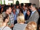 Los Reyes visitan zonas las afectadas de Sant Llorenç des Cardassar