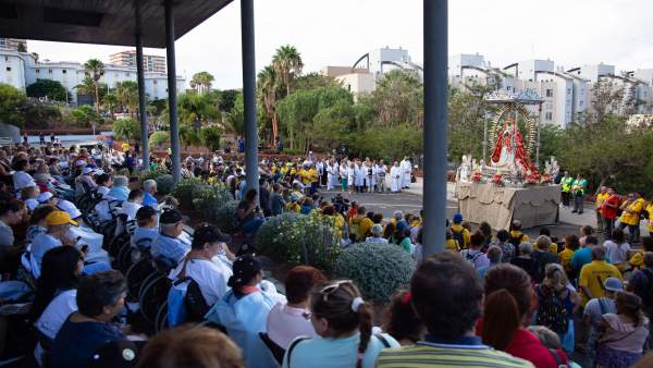La Virgen de Candelaria visita el HUNSC