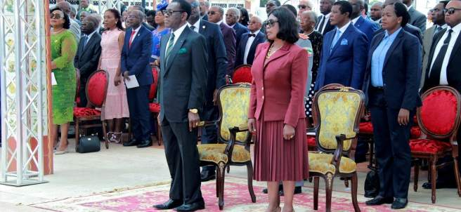 Teodoro Obiang con la Primera Dama de Guinea, Constancia Mangue