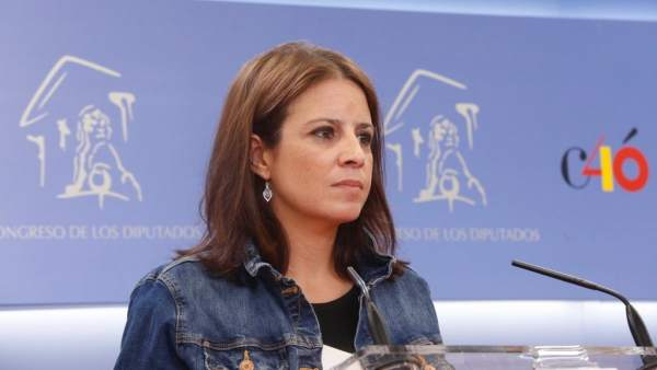 Adriana Lastra, portavoz del PSOE