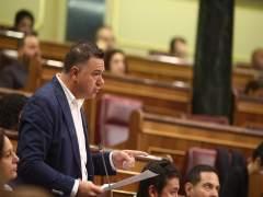 Juan Antonio Delgado, de Podemos, interviene en el Congreso