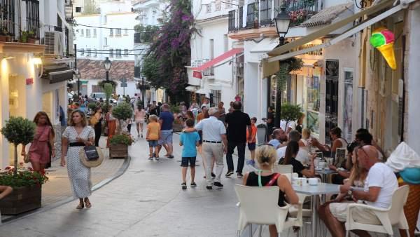 Turistas en Marbella