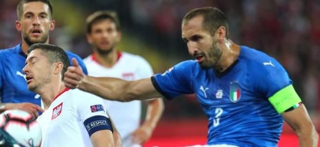 Giorgio Chiellini, con la selección italiana.