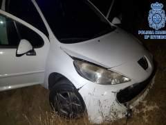 Vehículo interceptado tras una persecución en Jerez