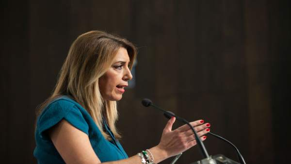 En Sevilla, la presidenta de la Junta, Susana Díaz