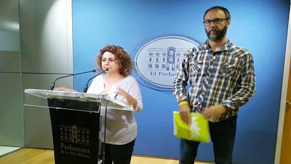 Més per Mallorca en rueda de prensa en el Parlament