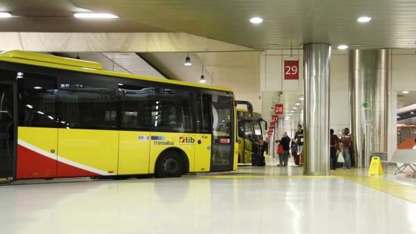 Autobuses TIB en la estación Intermodal