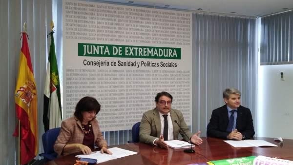 José María Vergeles en la presentación de la campaña de prevención de la gripe