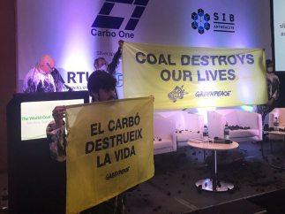 Greenpeace boicotea la Conferencia Internacional de Carbón